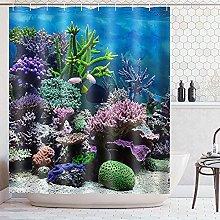 Tenda da doccia con meduse oceaniche Tende