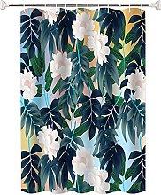 Tenda da doccia Foglia di fiore di pianta verde