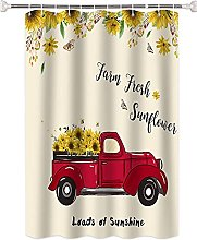 Tenda da doccia Girasole camion rosso antimuffa in