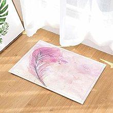 Tenda da doccia in piuma rosa, tappetini da bagno,