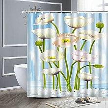 Tenda da doccia in tessuto impermeabile 3D