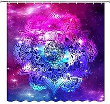 Tenda da doccia Mandala con occhi di fiore viola