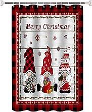 Tenda da doccia Motivo natalizio rosso tenda da