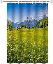 Tenda da Doccia Paesaggio erboso alpino Tessuto