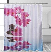 Tenda da doccia per il bagno Fiore rosa Tenda