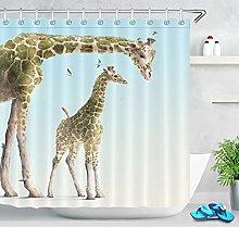 Tenda da doccia per il bagno giraffa animale Tenda