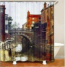 Tenda da doccia per il bagno Ponte di casa Tenda