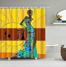Tenda da doccia per il bagno Ragazza di colore