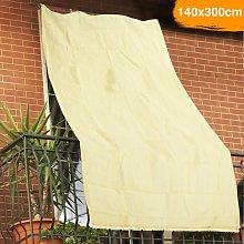 Tenda da Sole Telo Parasole 140x300 in HDPE con