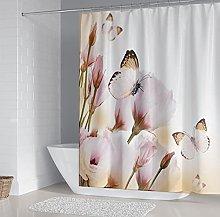 Tenda della Doccia Farfalla fiore 3D Stampato