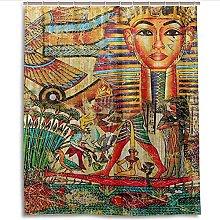 Tenda della Doccia Personaggi in stile egiziano