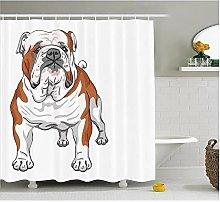 Tenda Della Doccia Shower Curtain,Bulldog Inglese