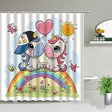 Tenda della doccia unicorno Decorazione del bagno