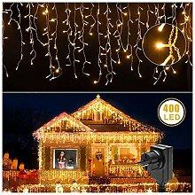 Tenda di lucine a LED, luce bianca calda, 216 LED,