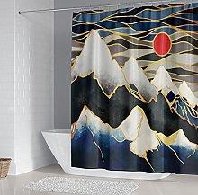 Tenda Doccia Paesaggio di montagna astratto Tenda