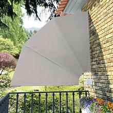 Tenda Laterale per Balcone Pieghevole Crema