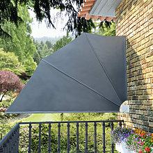 Tenda Laterale per Balcone Pieghevole Grigia
