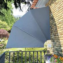 Tenda Laterale per Balcone Pieghevole Grigio