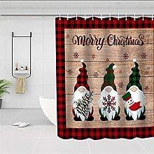 Tenda per doccia Motivo natalizio rosso