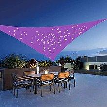 Tendalino parasole a vela triangolare in tessuto
