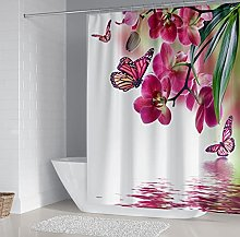 Tende da bagno Farfalla fiore Tenda da doccia per