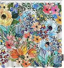 Tende da bagno fiori colorati Impermeabile enda da