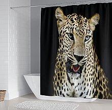 Tende da Bagno in Tessuto Leopardo animale Tenda