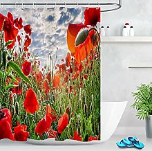 Tende da bagno Pianta dai fiori rossi Tenda da