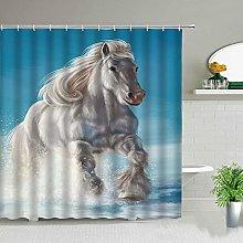 Tende da doccia con cavalli Animali da fattoria