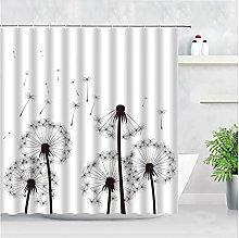 Tende da doccia con tarassaco nero Tende da bagno