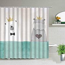 Tende da doccia per cani animali color acqua