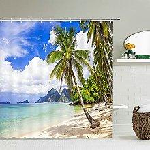 Tende da doccia per paesaggi da spiaggia Tenda da