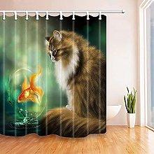 Tende Doccia Tessuto Idrorepellente Gatto e pesce