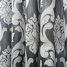 Tende jacquard marroni per soggiorno in poliestere