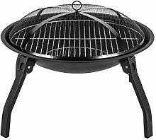 Tenwan - Barbecue pieghevole a carbone, barbecue