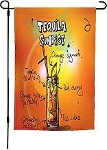 Tequila - Bandiera da giardino, 30 x 40 cm, doppia