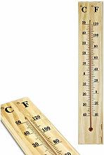 Termometro in Legno per Interno Esterno da Muro