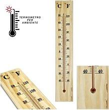Termometro Interno Esterno Da Muro In Legno °C