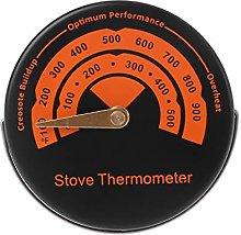 Termometro magnetico per stufa a legna, ventola