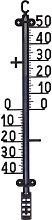 Termometro Nero 41Cm Accessori Giardino Esterno