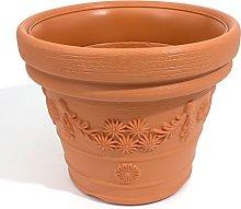 Terra - Vaso da Fiori Decora, Terracotta, 45 cm