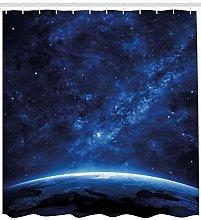 Terra vista universo notte Tenda da doccia