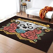 Teschio e rose tappeti per soggiorno camera dei