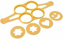 Tescoma 420872 Stampo Pancake, Silicone, Giallo