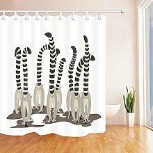 Tessuto da arredo per bagno in cartone animato con