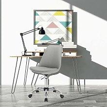 tessuto grigio chiaro regolabile Ufficio sgabello
