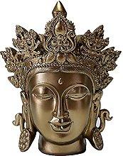 Testa di Buddha Statua,Finitura Bronzo Statua di