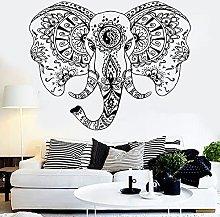 Testa di elefante vinile adesivo murale animale