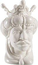 Testa di Moro in Porcellana Stile Siciliano. Vaso