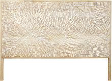Testata da letto 160 cm in legno massello di mango